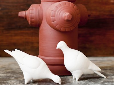 Christa Assad - Fire Hydrant and Pigeons