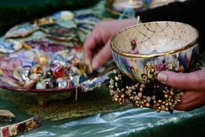 פני שטח | צבע ואלמנטים קרמיים | אנה כרמי | Ceramic elements and color | Anna Carmi