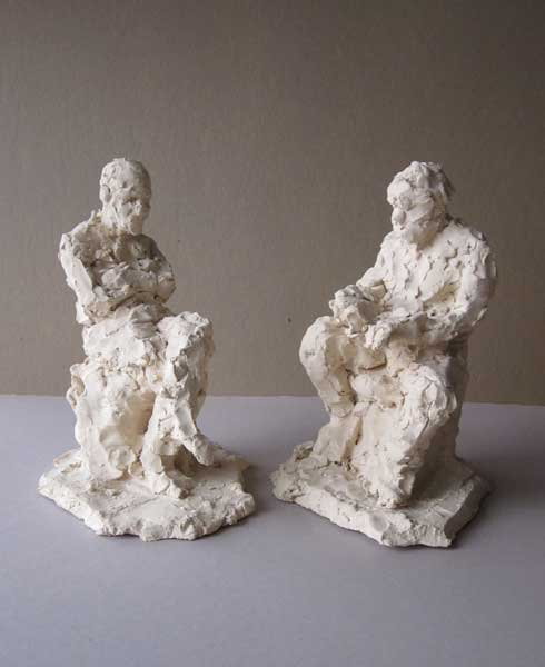 Figurative Sculpture with a Model | Noa Shay
